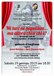 locandina-commedia-Sessa SPETTACOLO DI BENEFICENZA ALL'EX SCUOLA MEDIA DE SANTIS